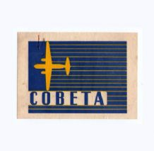 Vintage Collectible Airline luggage label COBETA  #044